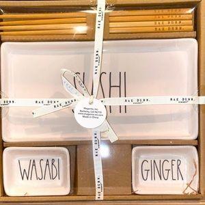 Rae Dunn Sushi Set ginger wasabi brand new
